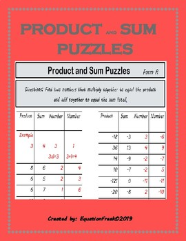 Product and Sum Puzzles