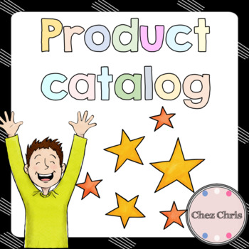 Product catalog - All the resources available in my TpT Store
