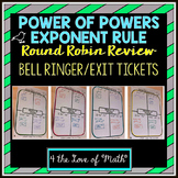 Product of Powers Exponent Rule Round Robin Bell Ringer/Ex