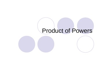 Product of Powers Foldable