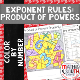 Product of Powers Property Exponent Rules Color by Number 8.EE.1