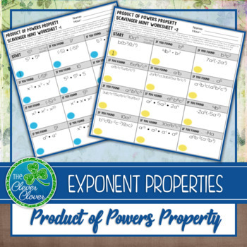 Exponents - Product of Powers Property