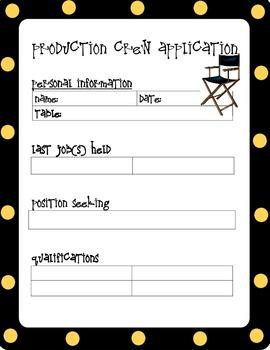 Production Crew-Job Application
