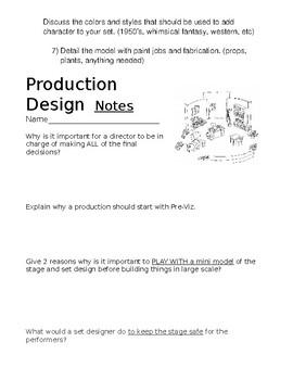 Production Design Art Lesson Papers
