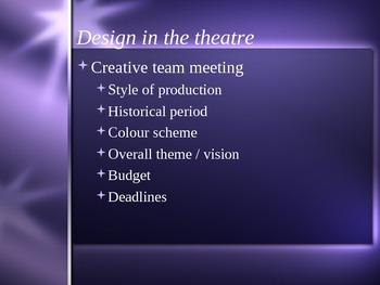 Production Design Process Presentation