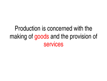 Production Methods - Job, Batch & Flow Production - Group Task & Worksheet
