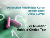 Production Possibilities Curve, Budget Line, Utility Curve Assessment