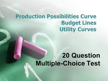 Production Possibilities Curve, Budget Line, Utility Curve Assessment