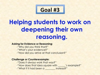 Productive Classroom Talk: Posters, Goals, & Prompts