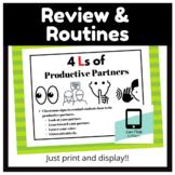 Productive Partner Classroom Signs