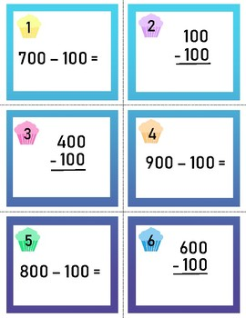 Productive Practice!  Subtracting 10 and 100 from 3-digit numbers