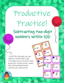Productive Practice! Subtracting 2-digit numbers within 100