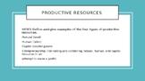 Productive Resources