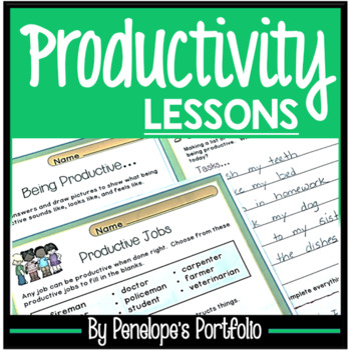 PRODUCTIVITY Character Education Packet