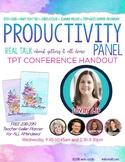 Productivity Panel