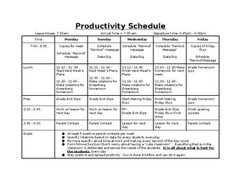 Productivity Schedule