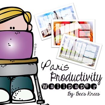 Productivity Wallpapers Paris By Edunista Teachers Pay Teachers