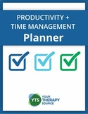 Productivity and Time Management Planner for Teachers, Therapists, Etc.