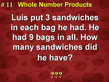 Products Of Whole Numbers Word Problems