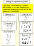 Products, Quotients, Sums and Powers of Monomials for PDF