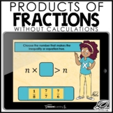 Products of Fractions Boom Cards | TEKS 6.3B | Distance Learning