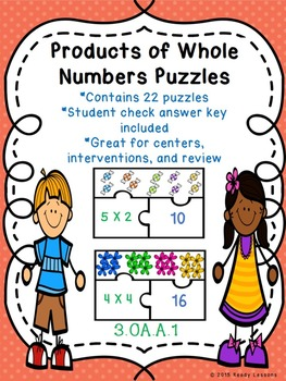 Equal Groups Multiplication Game for Third Grade 3.OA.1 Puzzles