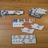 Equal Groups Multiplication Game for Third Grade Math Center Puzzles 3.OA.1