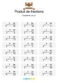 Produit de fractions 4 - Compléter les fractions