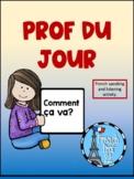 Prof Du Jour Ontario Curriculum French Speaking and Listening Activity