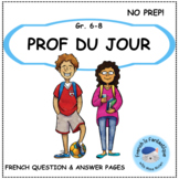 Prof du Jour: Question and Answer Pages