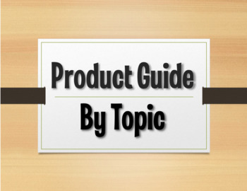 The Profe Store LLC Product Guide by Topic