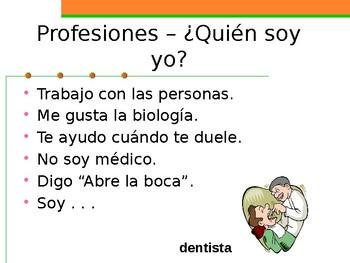 Profesiones (Professions in Spanish) Quién soy yo
