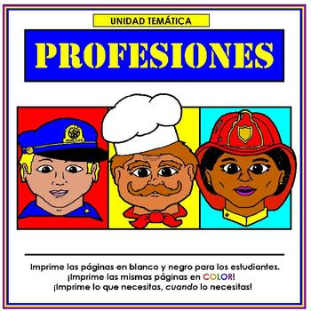 Profesiones Thematic Unit in Spanish