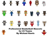 Professional Basketball Mascots - PNG Files - For Personal or Commercial Use