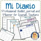 Professional Bullet Journal and Planner for Spanish Teachers