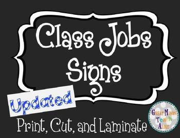 Class Jobs Bulletin Board Labels (Editable)