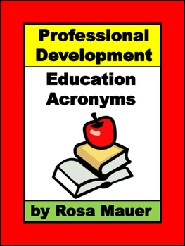 Professional Development Activities Acronym Challenge