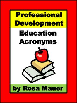 Professional Development Acronym Challenge