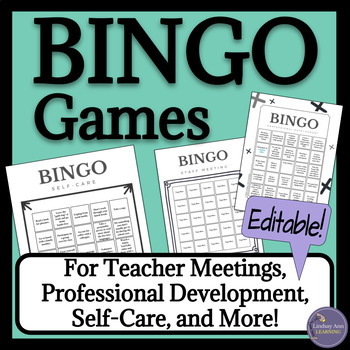 Professional Development BINGO Games for Teachers