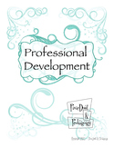 Professional Development Binder Pages ( 9 pgs incl Divider