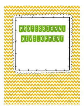 Professional Development Binder Setup