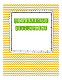 Professional Development Binder Setup