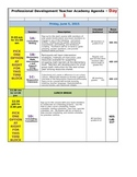 Professional Development Conference Schedule Template