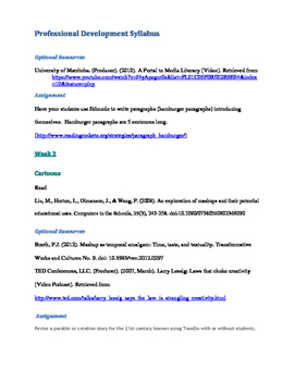 Professional Development Course - Using Technology in the Classroom