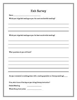 Professional Development Exit Survey