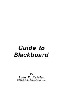 Professional Development for the Blackboard Learning Mangement System