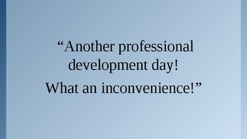 Professional Development: Literacy Strategies