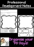 Professional Development Notes - PD Days