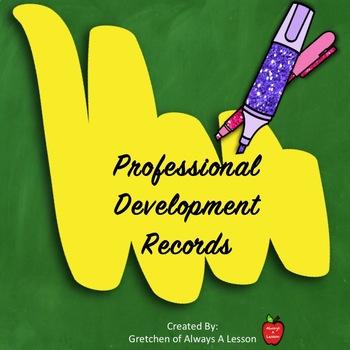 Professional Development [PD] Log