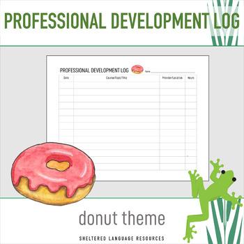 Professional Development PD Log Donut Theme